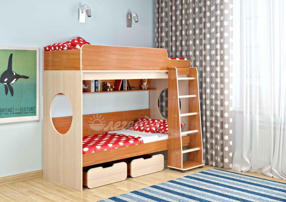 Двухъярусная кровать Легенда 7,комплектация 1.